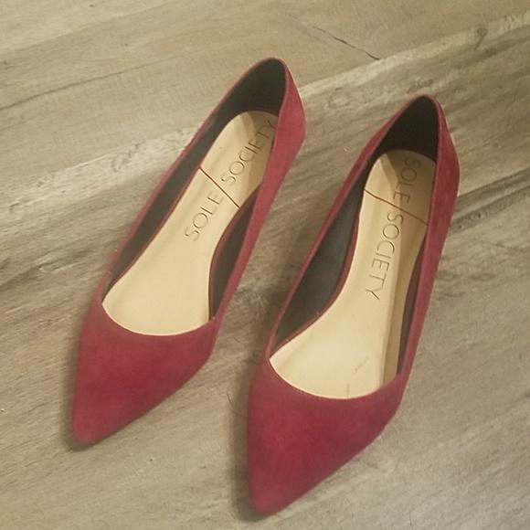 e4d7293c1f Sole Society Shoes | Berrywine Color Kitten Heels | Poshmark